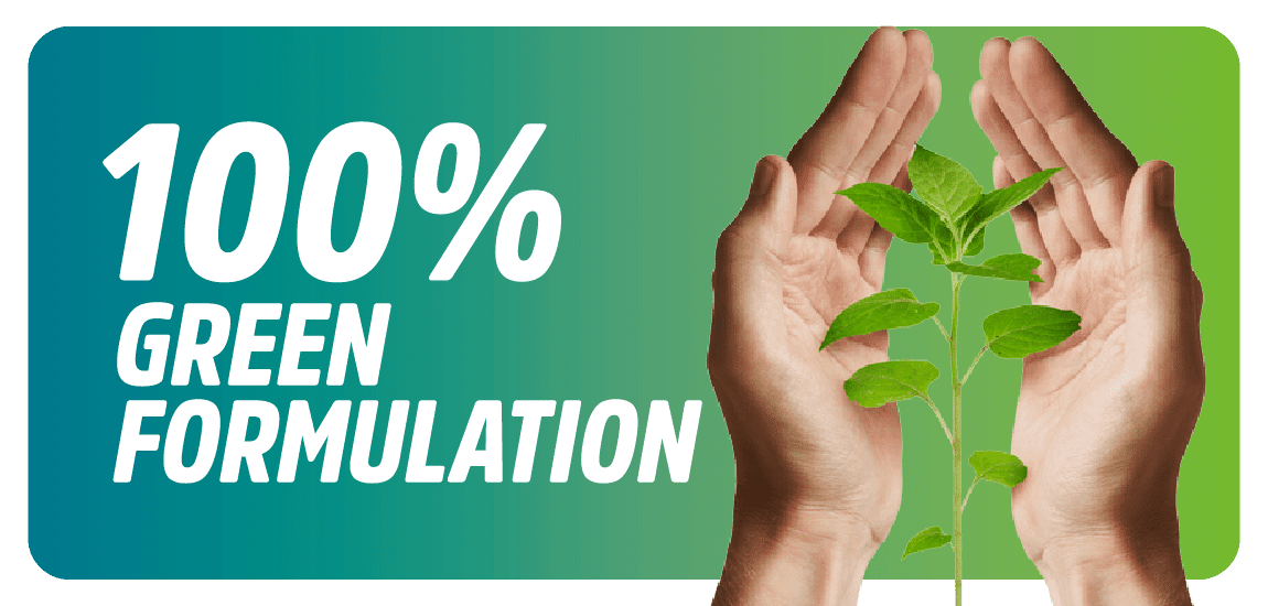 100� green formulation